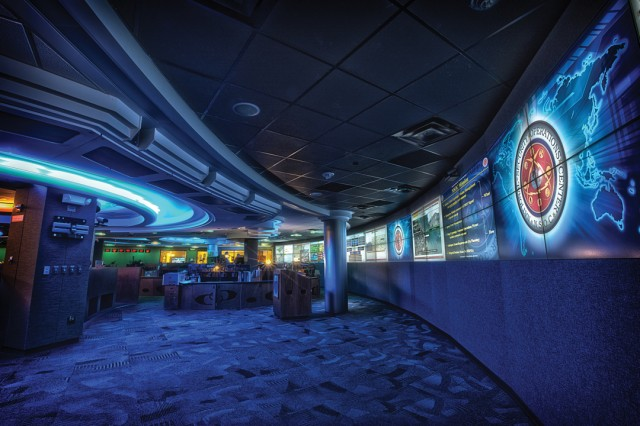 "The National Security Operations Center at NSA, photographed in 2012—the nerve center of the NSA's ""signals intelligence"" monitoring. A former NSA coder has been sentenced to 66 months in prison for bringing home the code that drove much of the NSA's signals intelligence operations."