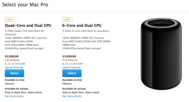 All but the earliest of buyers will actually be seeing their Mac Pros in 2014.