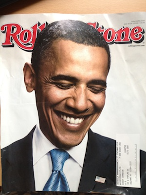 Obama's <em>Rolling Stone</em> cover, a thing I have almost no business keeping in its physical form.