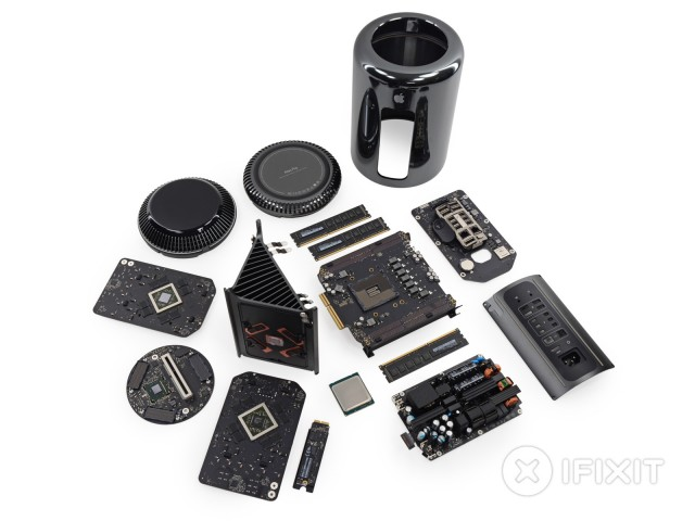 The Mac Pro, exploded by iFixit.