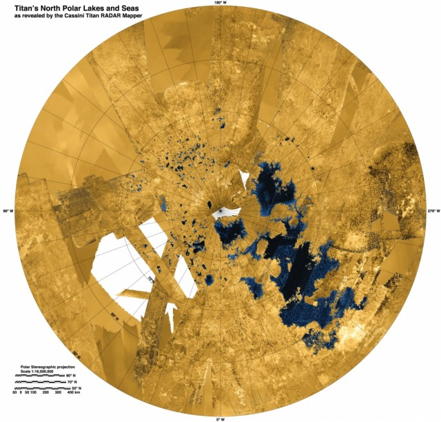 Meet the Kraken: Hydrocarbon seas spotted at Titan's north pole