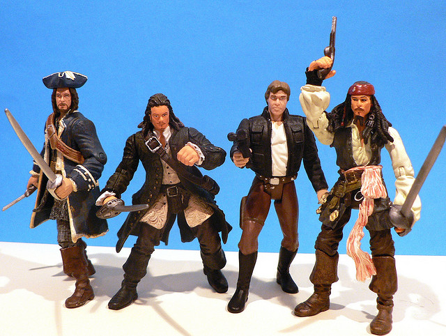 Action figures that absolutely can't be used in the upcoming <em>MPAA v. Hotfile</em> trial.