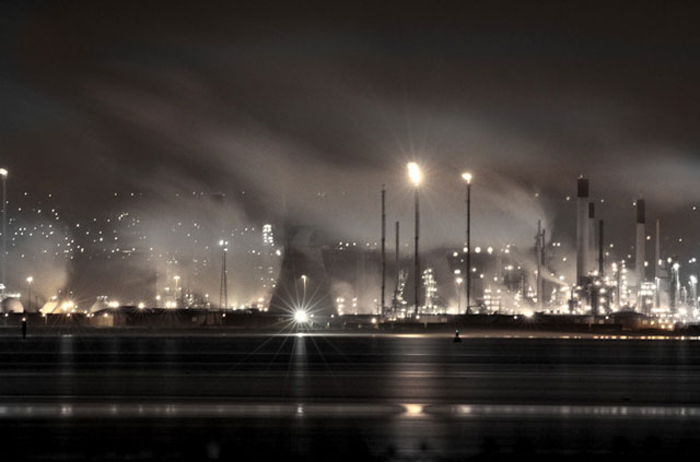 An oil refinery in the United Kingdom.