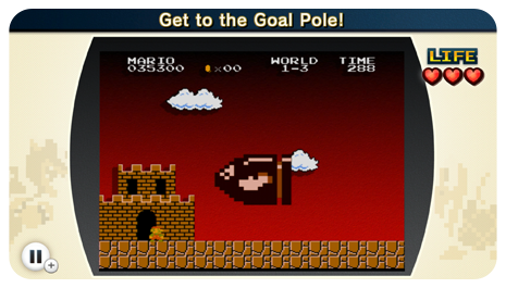 Haha, whoa, a giant Bullet Bill! I haven't seen that since... <i>Super Mario World</i>...