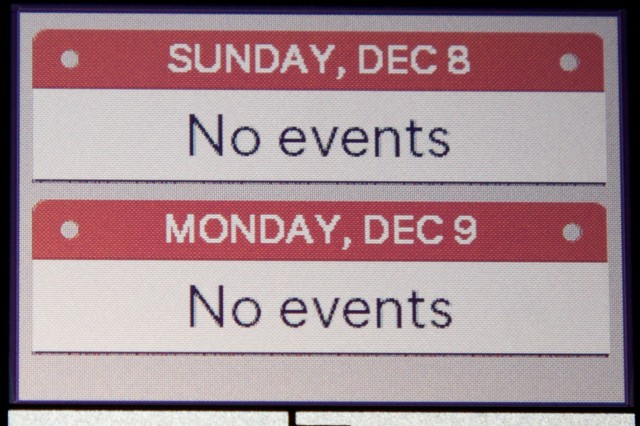 The calendar.