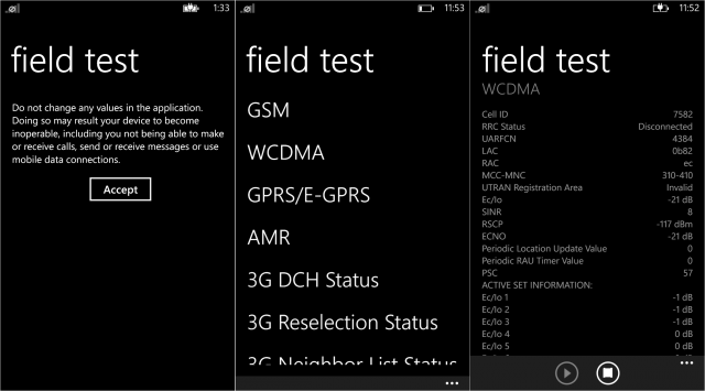 Windows Phone's Field Test app.