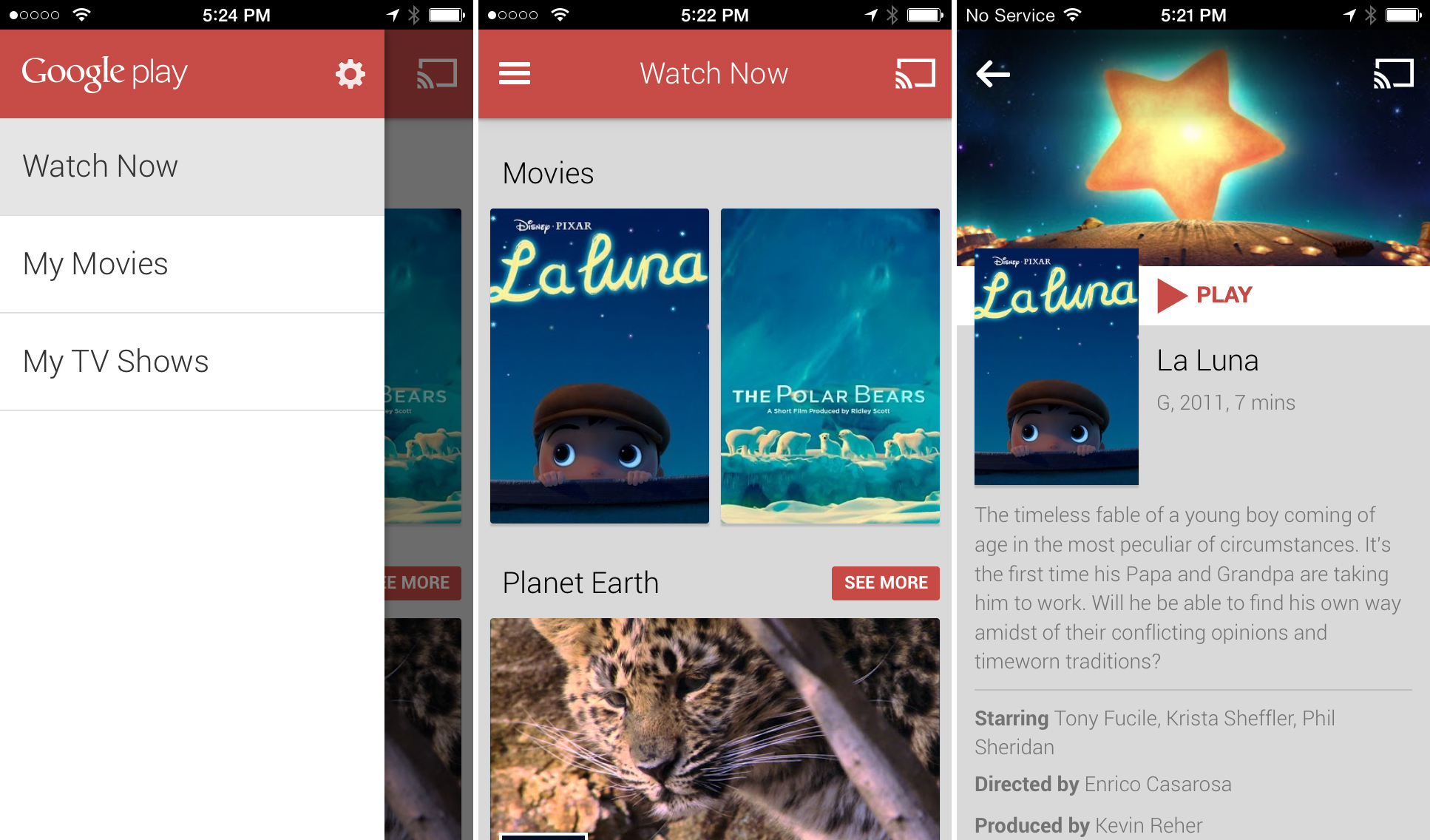 Google Play Movies & TV comes to iOS, minus the store and