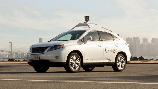 A Google self-driving car.