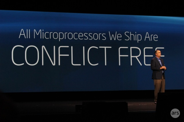"Intel: All of our microprocessors made this year are ""conflict free"""