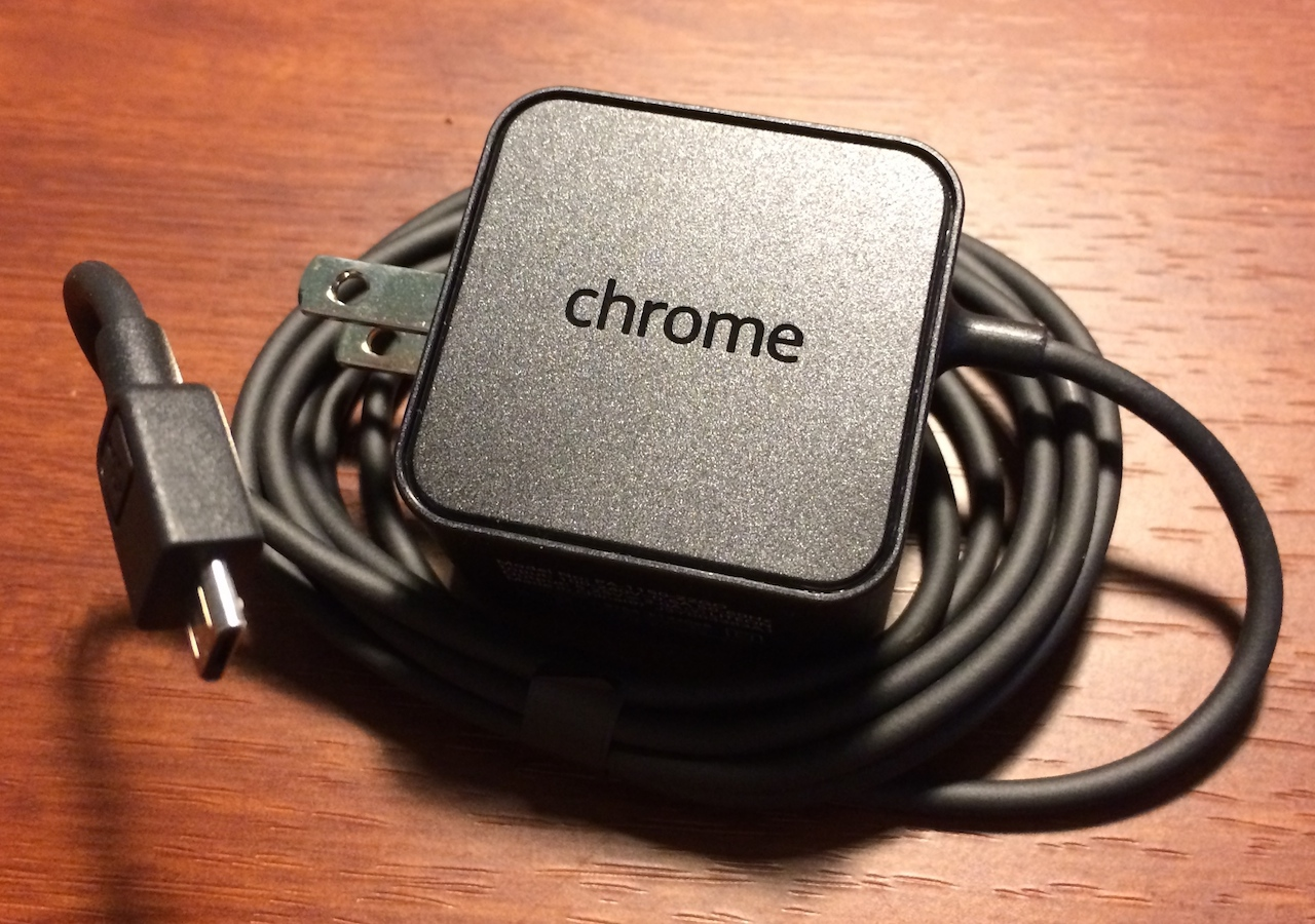 The new Chromebook 11 charger is actually more attractive and distinctive than the old one.