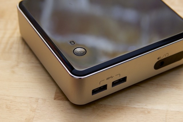 The NUC's power button.