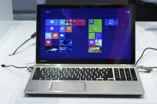 Toshiba's Satellite P50t, the more consumer-oriented of its two 4K laptops.