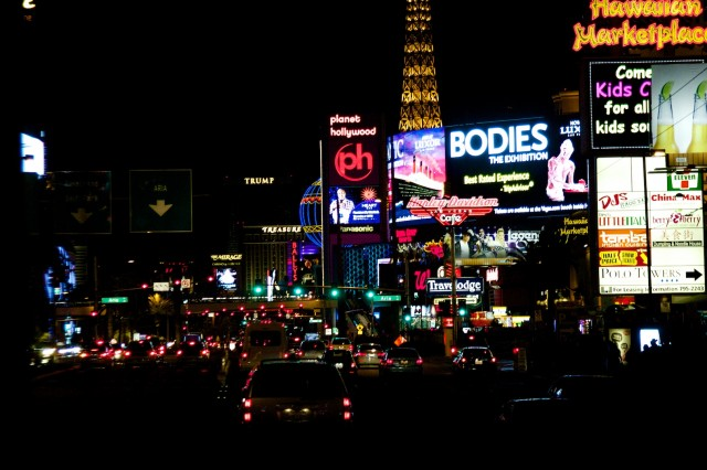 The sight we saw most often at CES 2014: Vegas from the back seat of a cab. We'll be reprising the performance for 2015 next week.