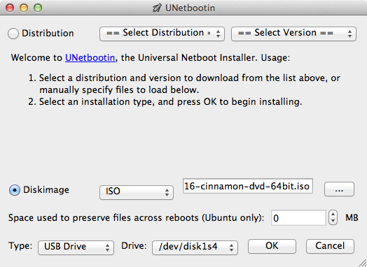 UNetbootin is probably the easiest way to make USB install drives for major Linux distributions.