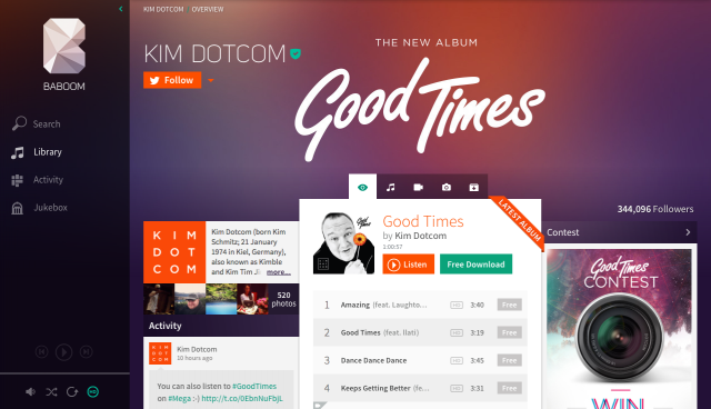 "Dotcom's Baboom service launches in NZ: ""Only pay for music if you like it"""