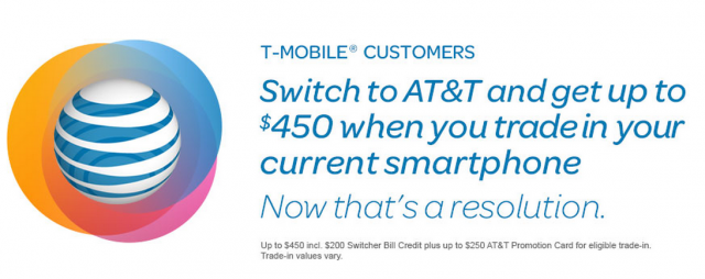 AT&T desperate to steal T-Mobile customers, offers $450 to switch