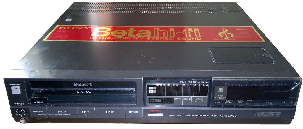 The Sony Betamax, circa 1985.
