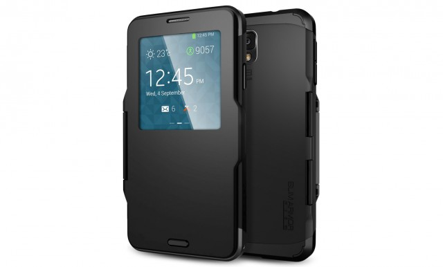 A Spigen S-View case.