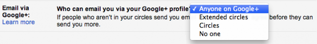 A screenshot of the relevant setting in Gmail.