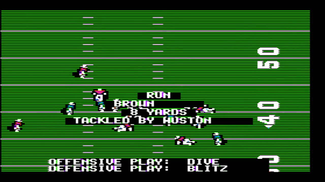 The original <i>Madden NFL Football</i> for the Apple II, from 1988.