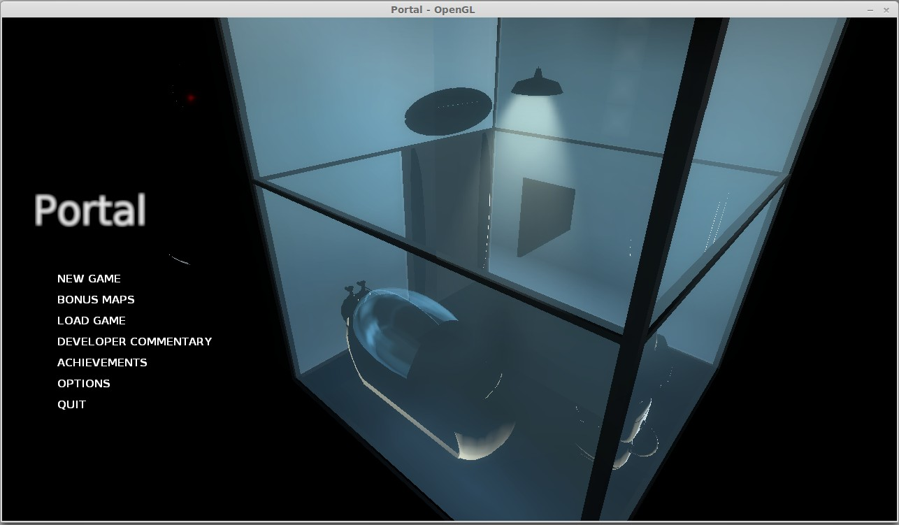 This is what <em>Portal</em> looks like in Linux Mint 16. It's not right.