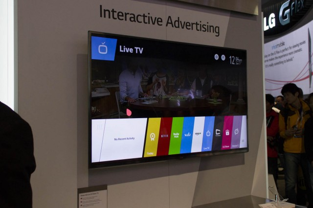 LG's smart TVs will have interactive ads. Seems like a bad road to go down so early.