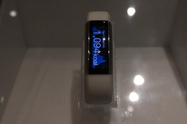 Toshiba's fitness bracelet. This one has a slightly more advanced display than average.