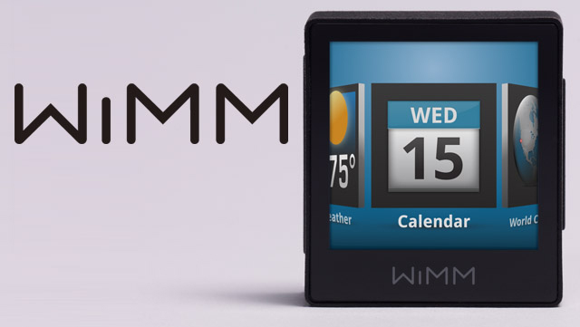 The Wimm One smartwatch. Google acquired Wimm about 2 years ago.