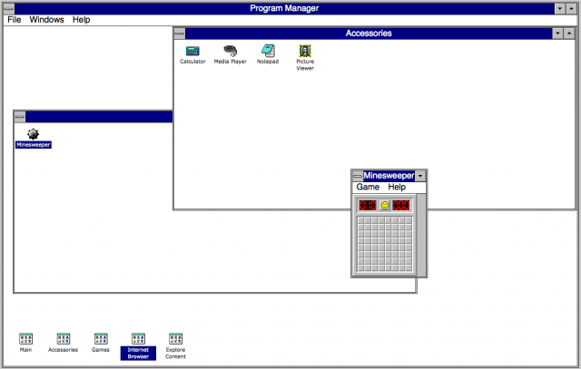 Simulation of Windows 3.1.