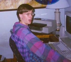 The author near the twilight of his BBS days. Notice the lack of girl, in contrast to Matthew Broderick above.