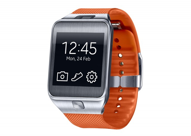 The Gear 2 includes a camera and a metal face.