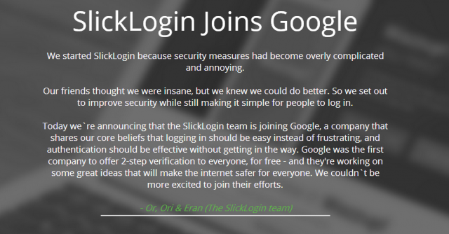 Google buys SlickLogin, a startup out to kill the password with sound