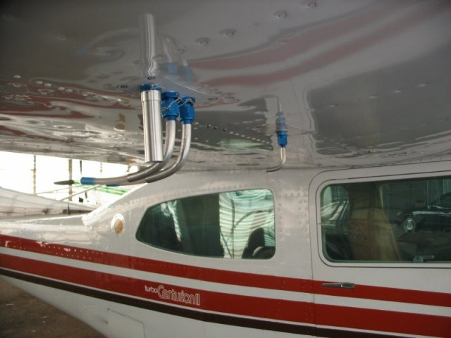 Air sample inlet on a NOAA aircraft.