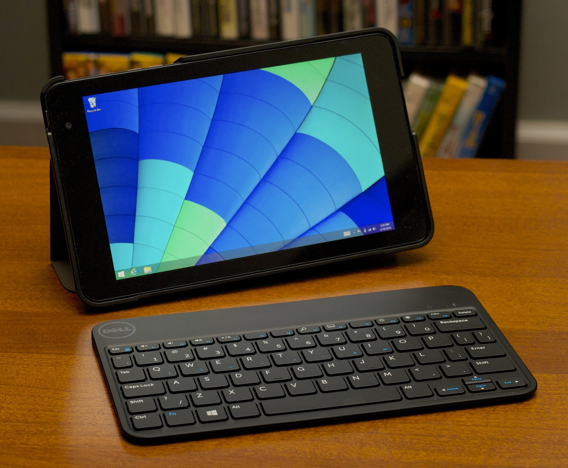 The Venue 8 in its case with its Bluetooth keyboard accessory.