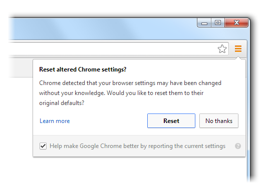 New Google Chrome feature warns users when browser has been hijacked
