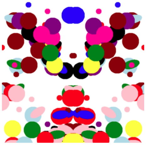 """An example of one of the """"inkblot"""" images used by the GOTCHA system."""