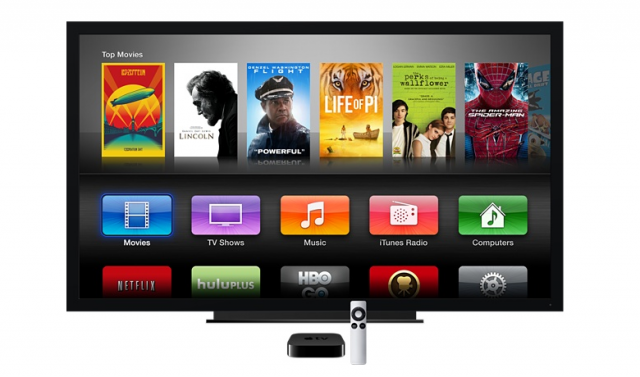 The Apple TV's current UI is stuck with an iOS 6-style design.