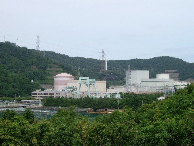 The Tsuruga Nuclear Power Plant, nestled in a not-entirely-peaceful valley.