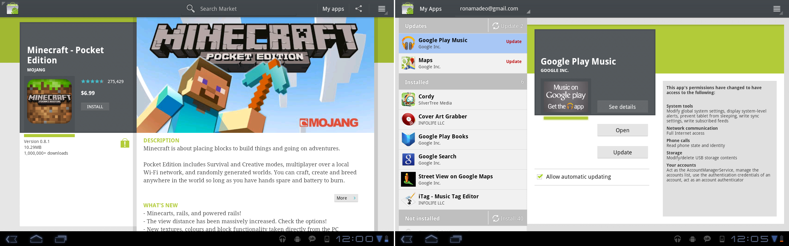 """The app page and """"My Apps"""" interface."""