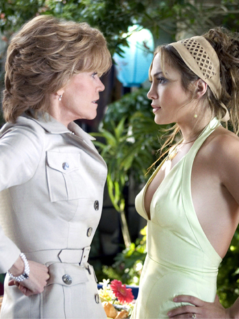 Jane Fonda and Jennifer Lopez in <em>Monster in Law</em>.