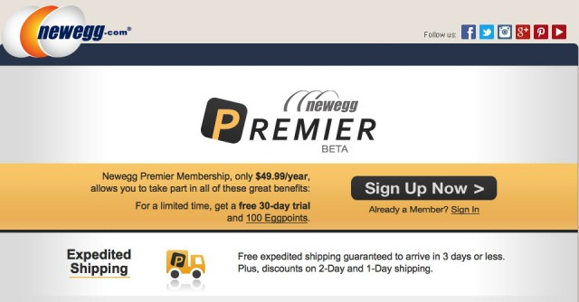 Newegg's answer to Amazon Prime: $50 per year for expedited shipping