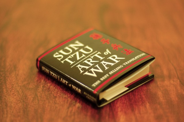 "The peering playbook is titled ""The Art of Peering"" and borrows tactics from Sun Tzu's <em>Art of War</em>."