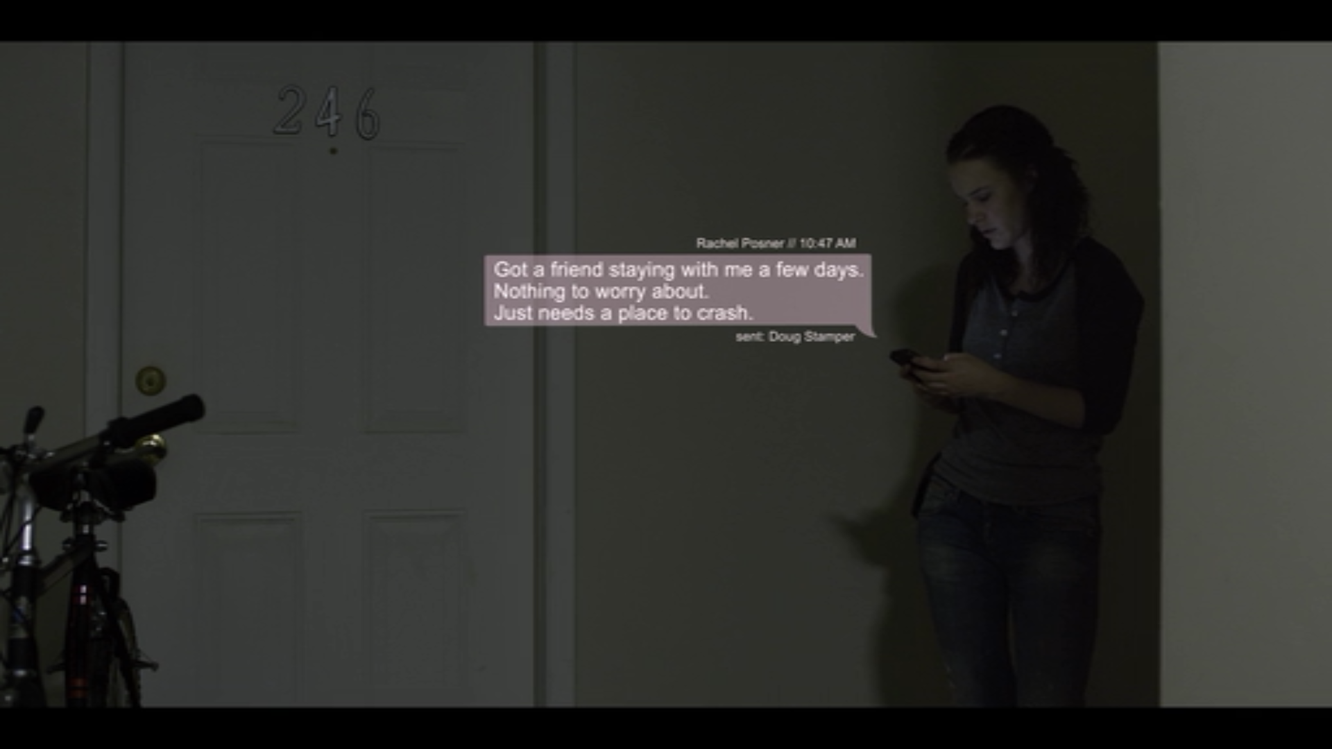 A passive texting event in <em>House of Cards</em>.