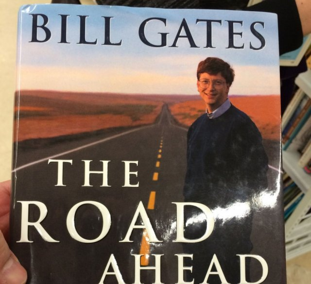 A much younger Bill Gates graces the cover of his 1995 book. Can Gates the Elder do a better job of finding Microsoft's route to cloud and mobile relevance?