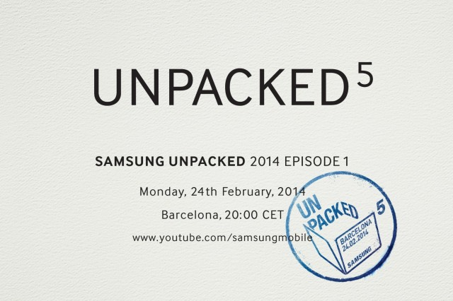 "Samsung's probable Galaxy S5 launch event—""Unpacked 5""—is on Feb 24"