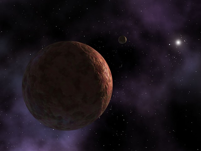 An artist's depiction of Sedna, the first of the objects from this class of bodies to have been discovered.