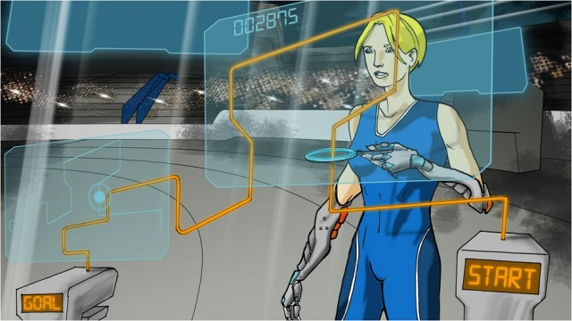 Powered arm prosthetics competition graphic.