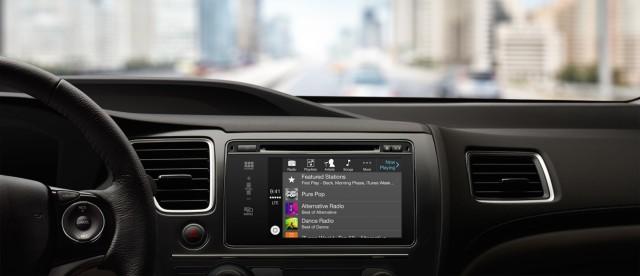 Listening to music with CarPlay.