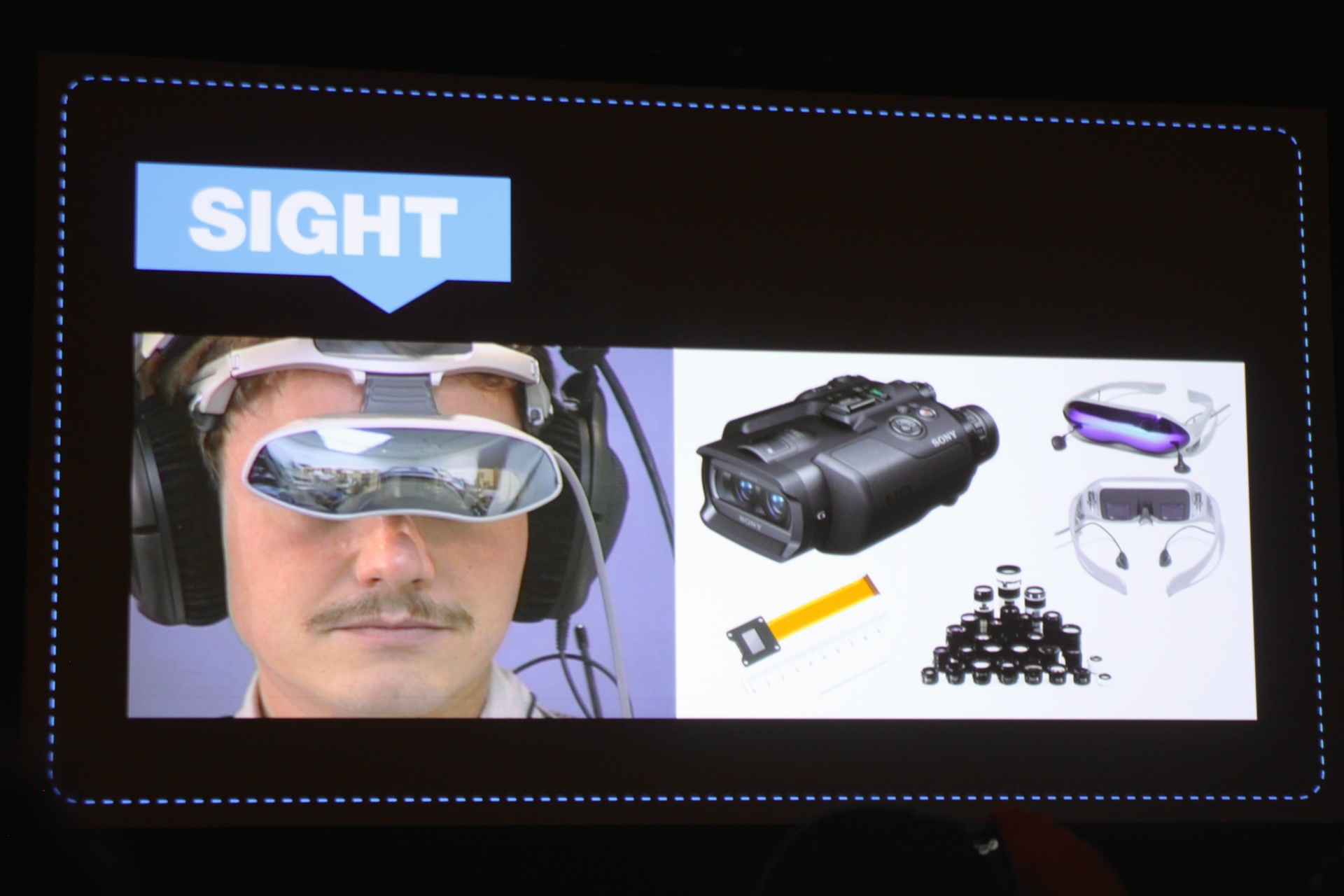 How Project Morpheus looks on a mustachioed head.