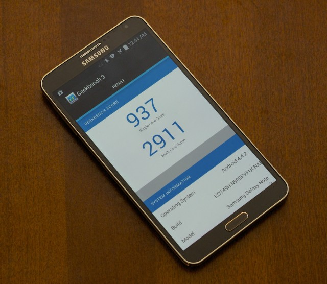 Samsung's Android 4.4.2 update appears to correct the boosting behavior we encountered in 4.3.